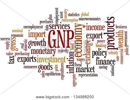 Gnp - Gross National Product, Word Cloud Concept 2