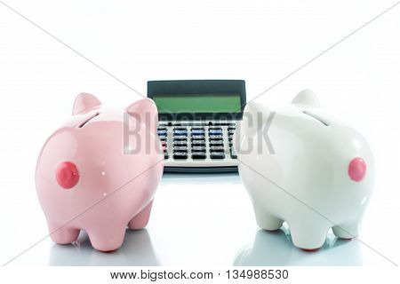 Piggybank And Calculator, Saving Target