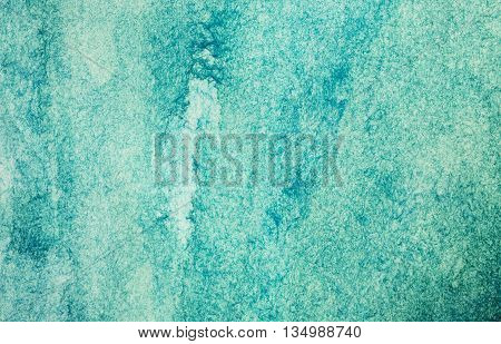 Watercolor blue green abstract texture paper background
