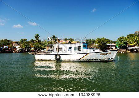 Old Sailing Fishing Boat