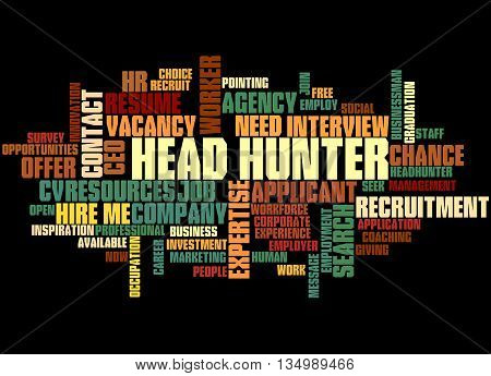 Head Hunter, Word Cloud Concept 3