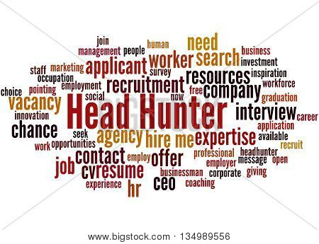 Head Hunter, Word Cloud Concept 5
