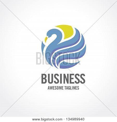 swan logo design, Beauty and Elegant logo sign. Animal logo sign