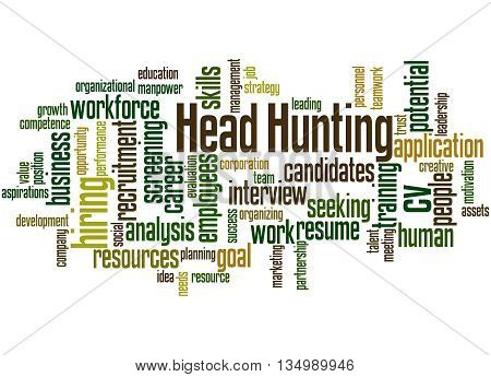 Head Hunting, Word Cloud Concept 2