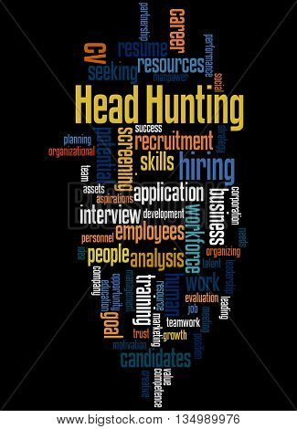 Head Hunting, Word Cloud Concept 3