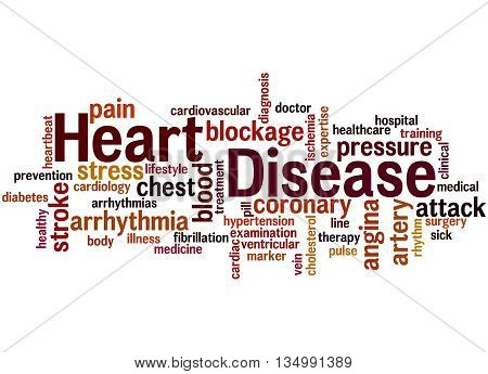 Heart Disease, Word Cloud Concept 9