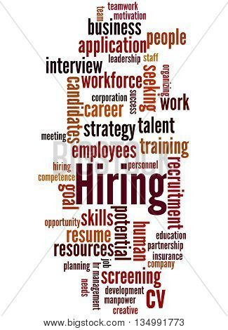 Hiring, Word Cloud Concept 3