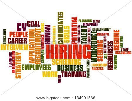 Hiring, Word Cloud Concept 7