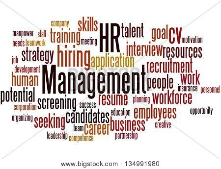 Hr Management, Word Cloud Concept 2