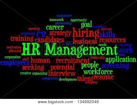 Hr Management, Word Cloud Concept 4