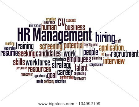 Hr Management, Word Cloud Concept 8