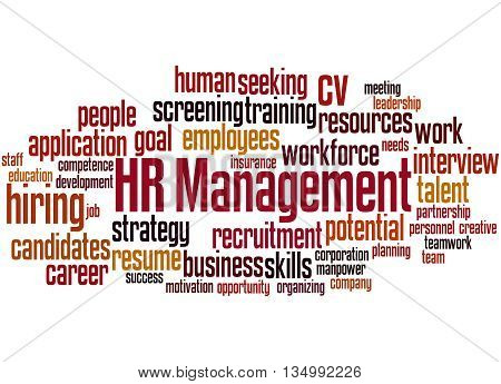 Hr Management, Word Cloud Concept 9