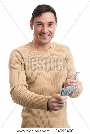 Smiling Man With Some Money