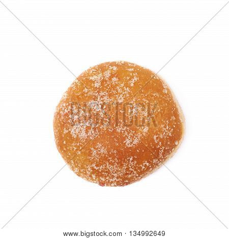 Jam filled doughnut isolated over the white background