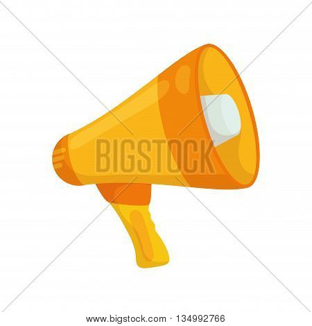 Communication concept represented by megaphone icon over flat and isolated background