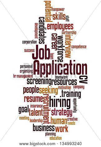 Job Application, Word Cloud Concept 5