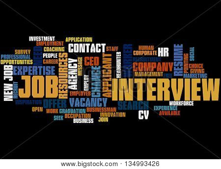 Job Interview, Word Cloud Concept