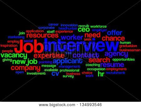 Job Interview, Word Cloud Concept 3