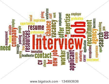 Job Interview, Word Cloud Concept 5