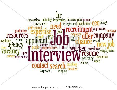 Job Interview, Word Cloud Concept 7