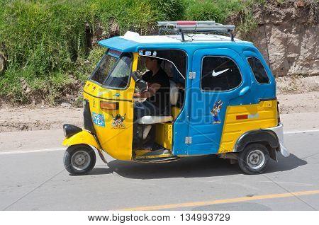 Auto Rickshaw In Urubamba, Peru