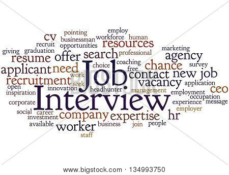 Job Interview, Word Cloud Concept 8