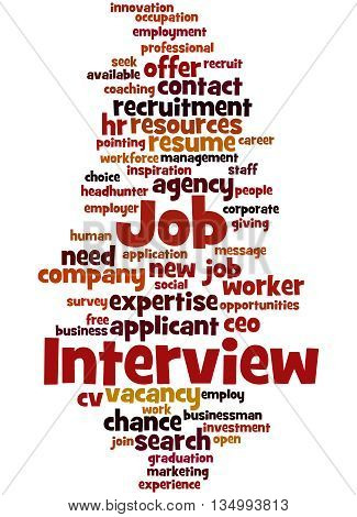 Job Interview, Word Cloud Concept 9