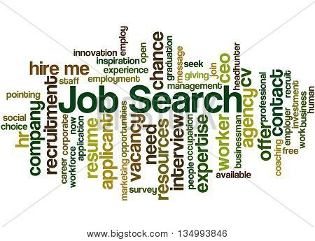 Job Search, Word Cloud Concept