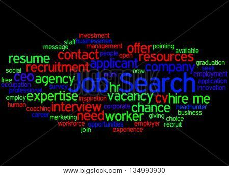 Job Search, Word Cloud Concept 3