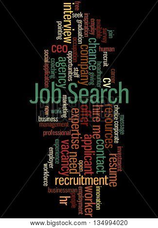 Job Search, Word Cloud Concept 5