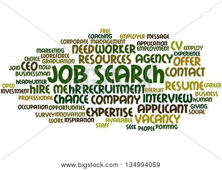 Job Search, Word Cloud Concept 6