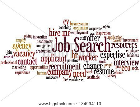 Job Search, Word Cloud Concept 8