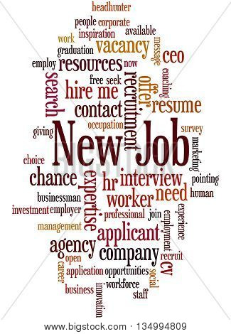 New Job, Word Cloud Concept 2