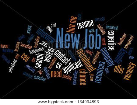 New Job, Word Cloud Concept 4