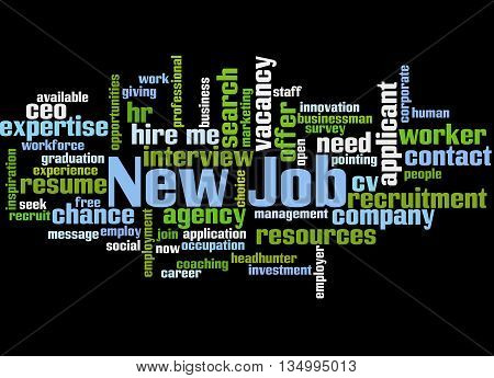 New Job, Word Cloud Concept 6