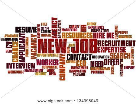 New Job, Word Cloud Concept 7