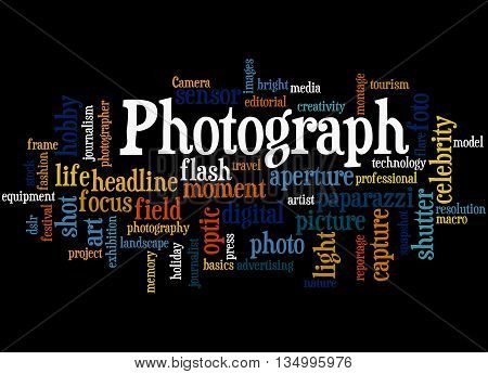 Photograph, Word Cloud Concept 5