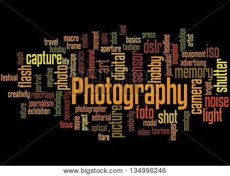 Photography, Word Cloud Concept 2