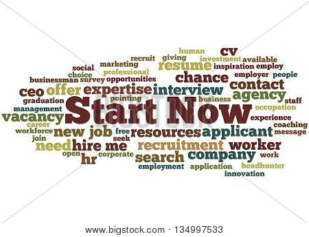 Start Now, Word Cloud Concept 5