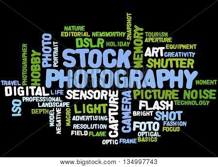 Stock Photography, Word Cloud Concept 2