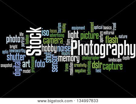 Stock Photography, Word Cloud Concept 4