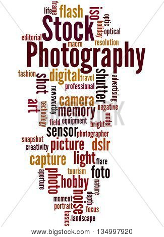 Stock Photography, Word Cloud Concept 6