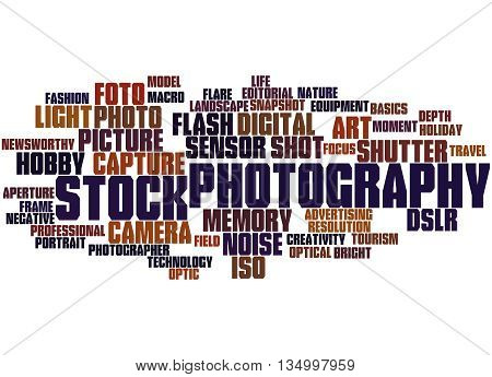 Stock Photography, Word Cloud Concept 7