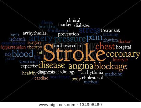 Stroke, Word Cloud Concept 8