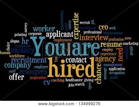You Are Hired, Word Cloud Concept 2