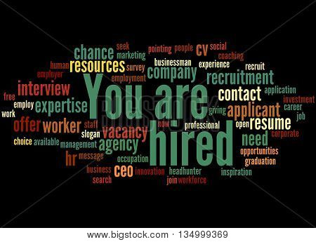 You Are Hired, Word Cloud Concept 3