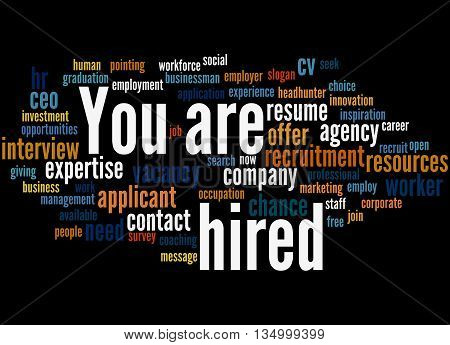 You Are Hired, Word Cloud Concept 4