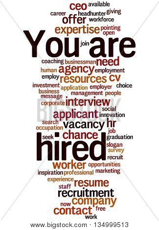 You Are Hired, Word Cloud Concept 6