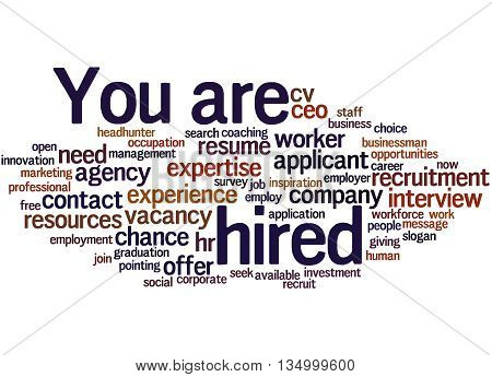 You Are Hired, Word Cloud Concept 8