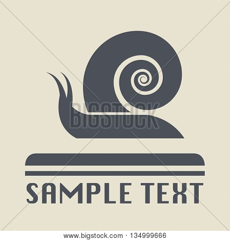 Abstract Snail icon or sign, vector illustration